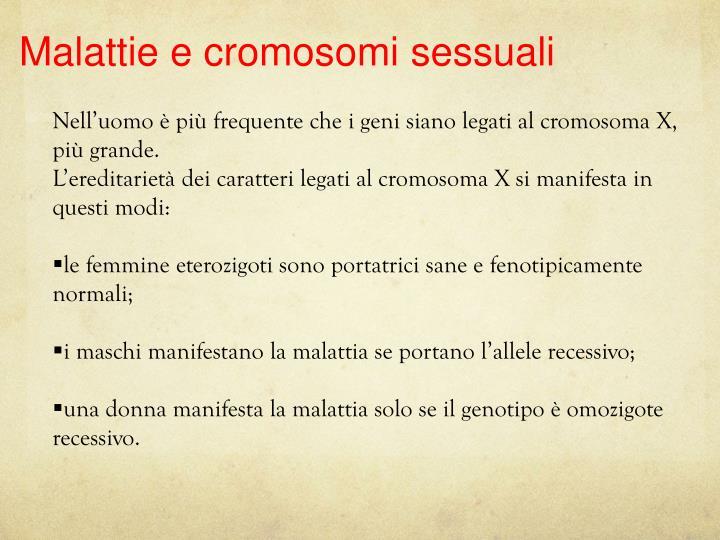 Malattie e cromosomi sessuali