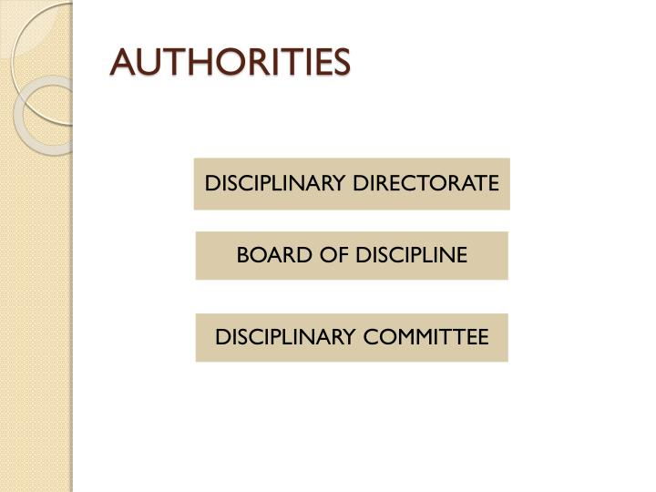 AUTHORITIES