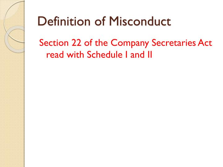 Definition of Misconduct