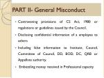 part ii general misconduct