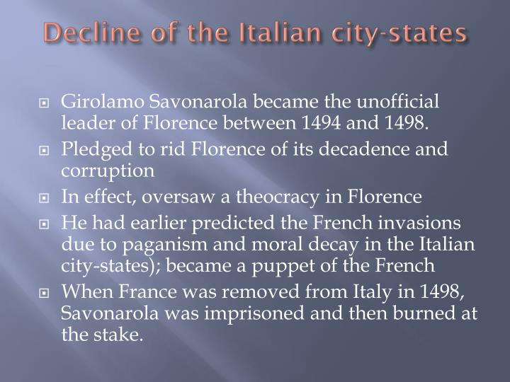 Decline of the Italian city-states