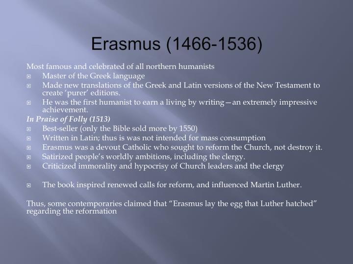 Erasmus (1466-1536)