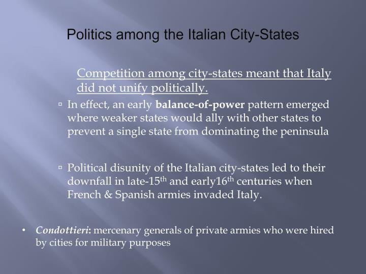 Politics among the Italian City-States