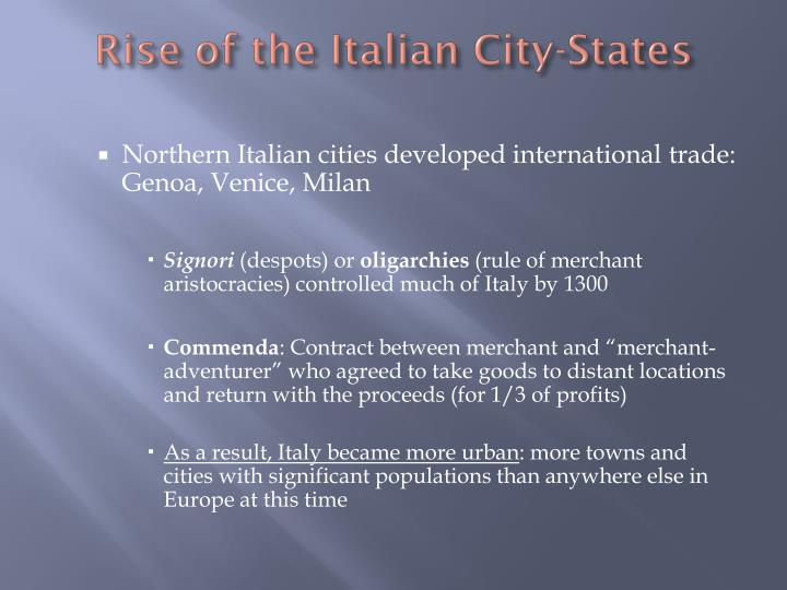 Rise of the Italian City-States