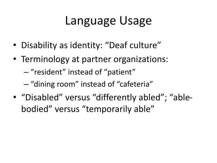 Language Usage