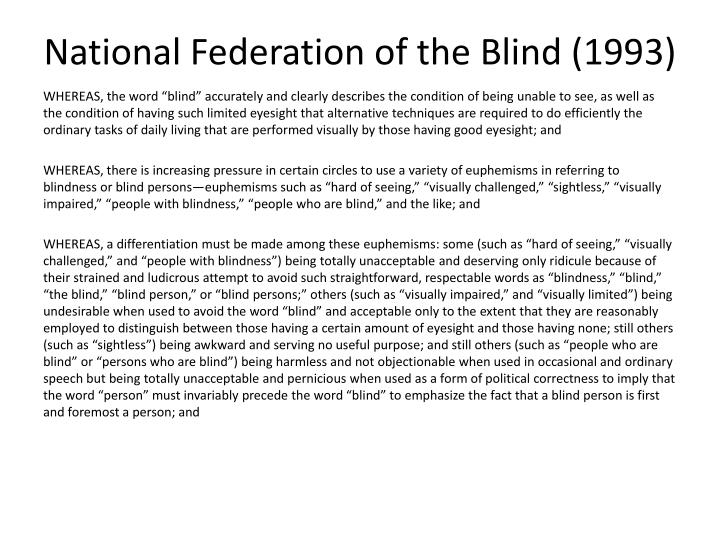 National Federation of the Blind (1993)