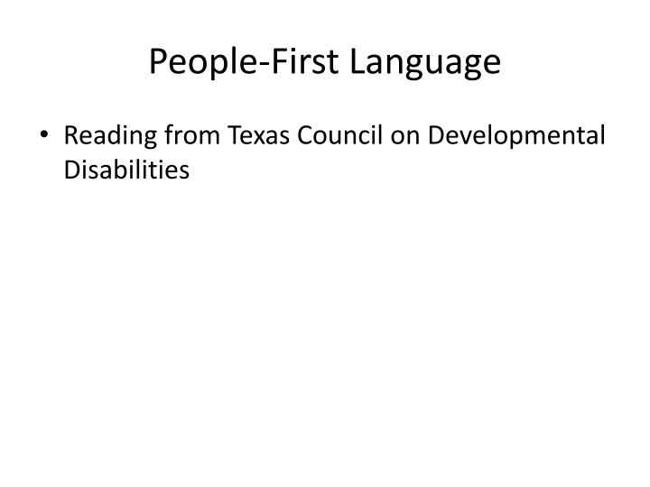 People-First Language