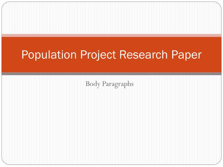 body paper research paper