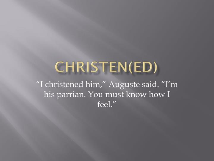 Christen(