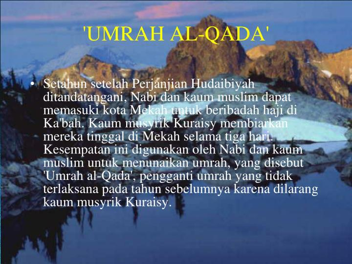 'UMRAH AL-QADA'