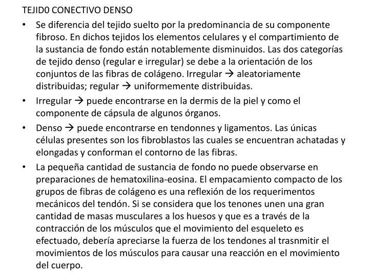 TEJID0 CONECTIVO DENSO