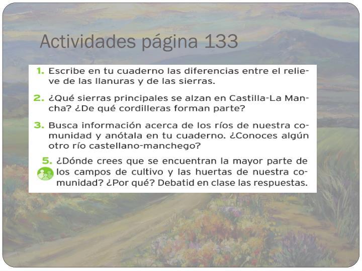 Actividades página 133