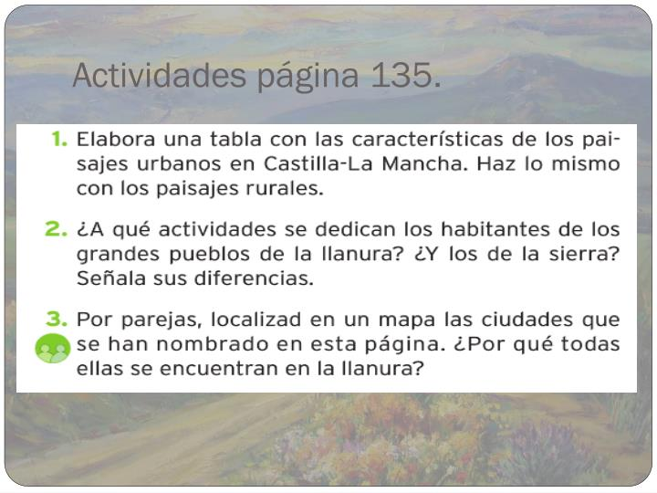 Actividades página 135.