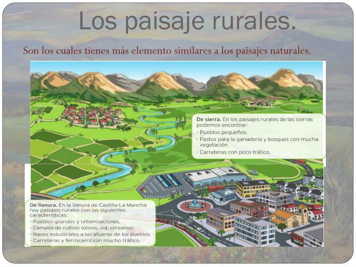 Los paisaje rurales.