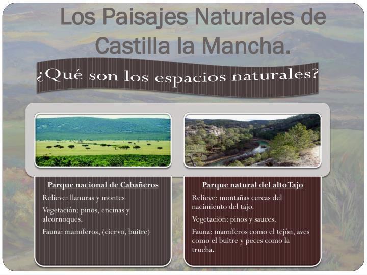 Los Paisajes Naturales de Castilla la Mancha.