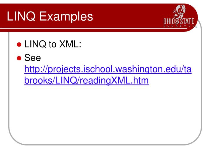 LINQ Examples