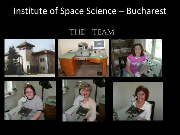 Institute of Space Science – Bucharest