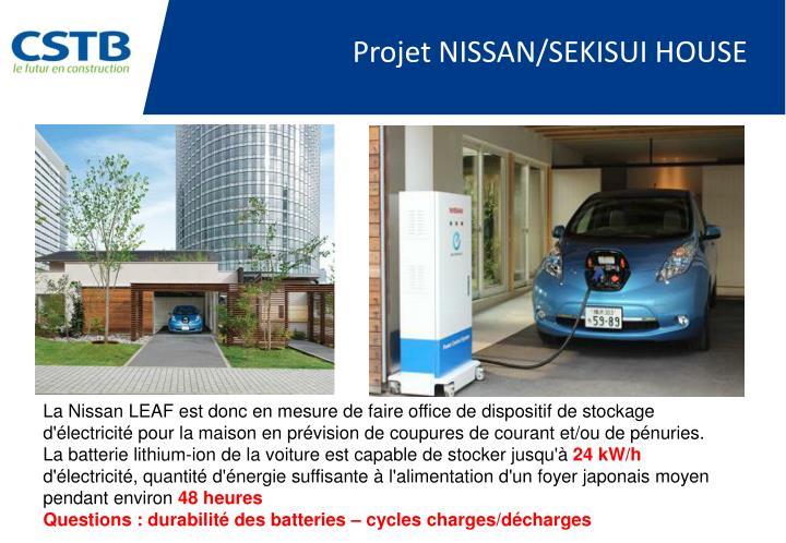 Projet NISSAN/SEKISUI HOUSE