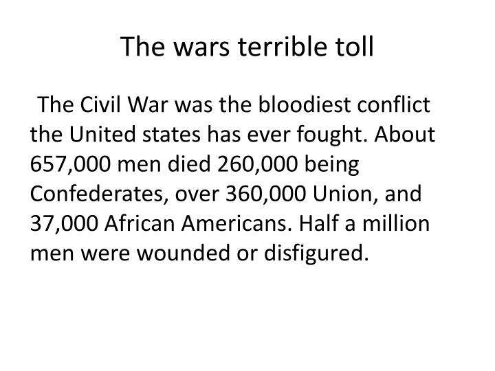 The wars terrible toll