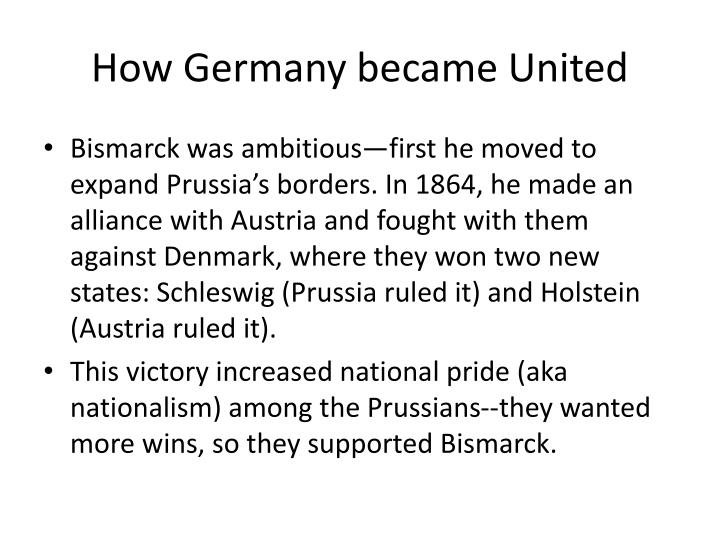 How Germany became United