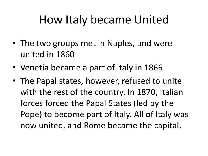 How Italy became United