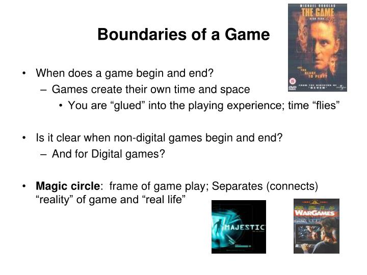 Boundaries of a Game