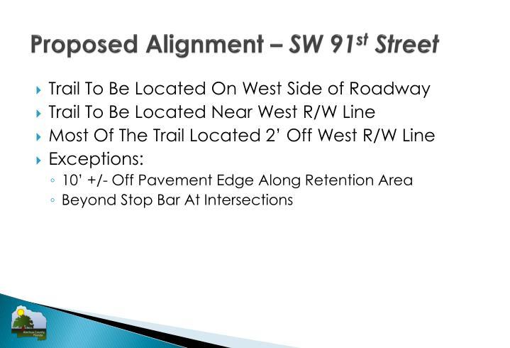 Proposed Alignment –