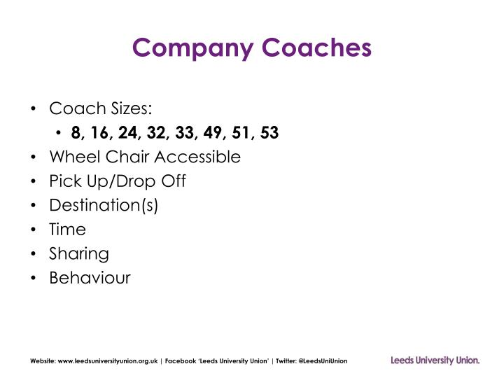 Company Coaches