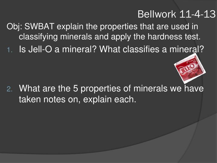 Bellwork 11-4-13