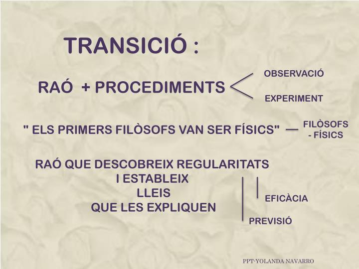 TRANSICIÓ :