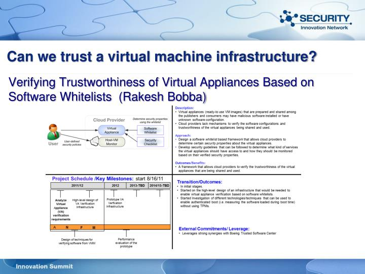 Can we trust a virtual machine infrastructure?
