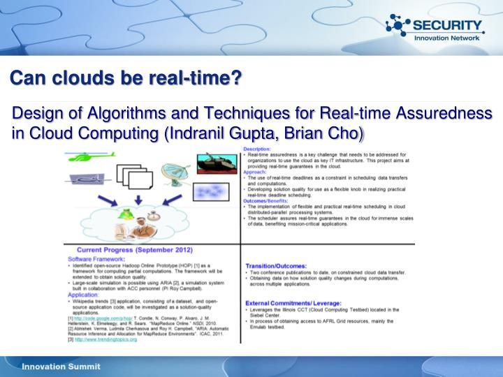 Can clouds be real-time?