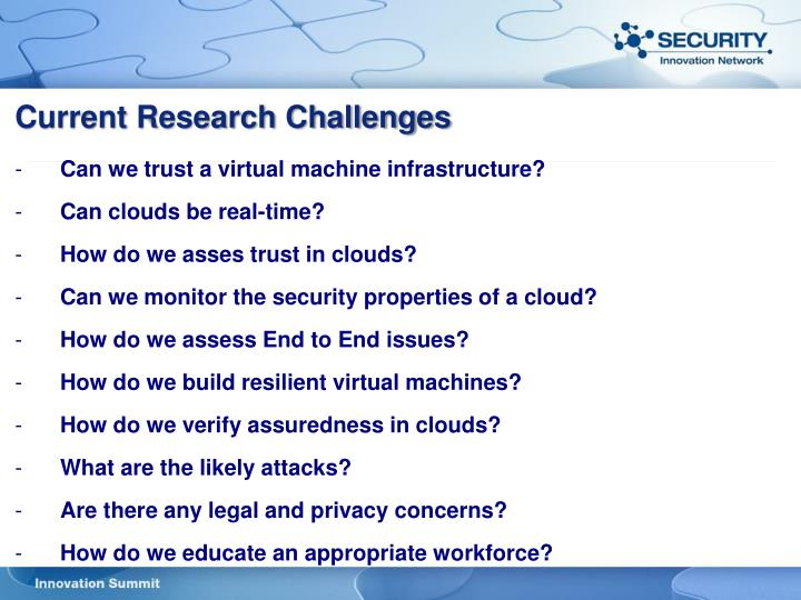 Current Research Challenges