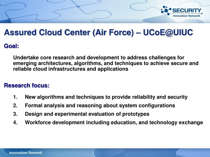 Assured Cloud Center (Air