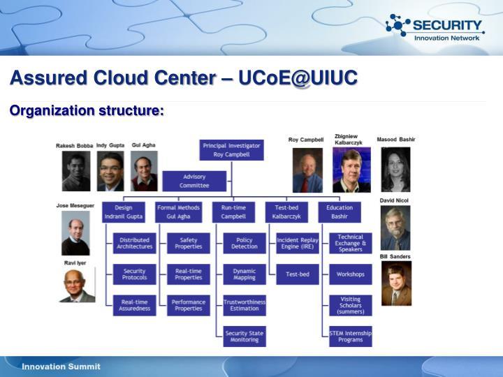 Assured Cloud Center – UCoE@UIUC