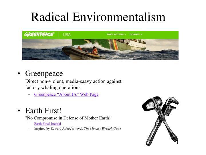 Radical Environmentalism