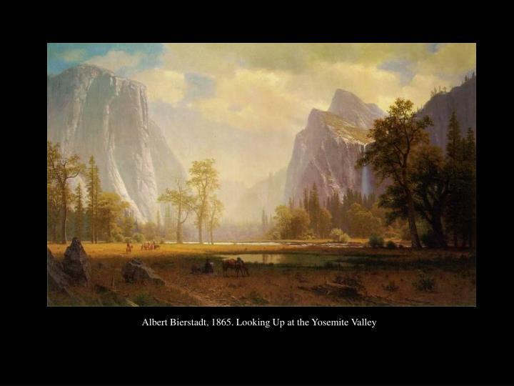 Albert Bierstadt, 1865. Looking Up at the Yosemite Valley