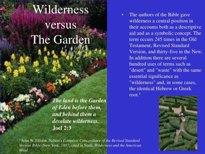 Wilderness versus
