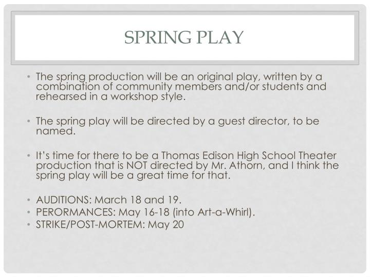 SPRING PLAY