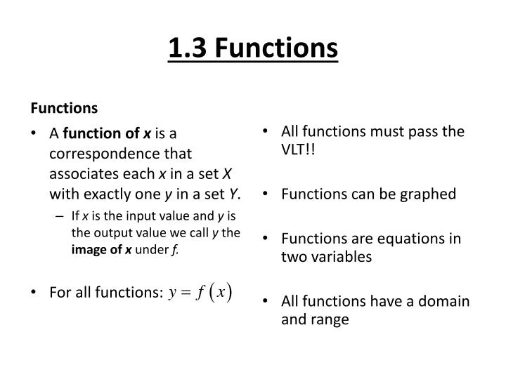 1.3 Functions