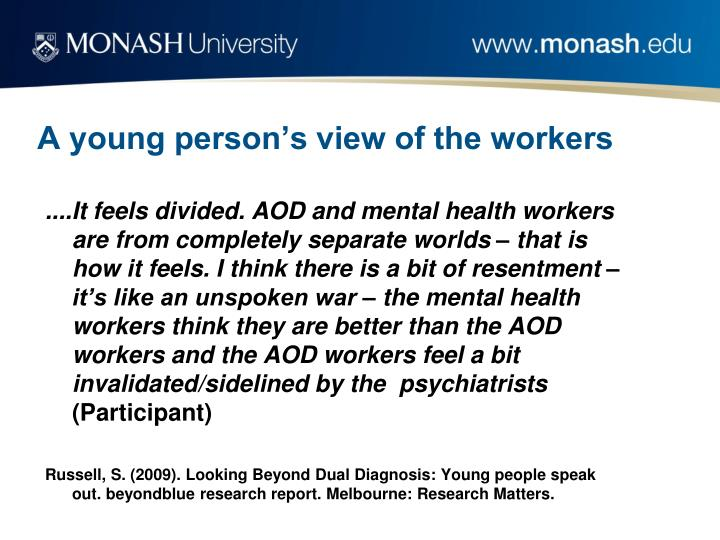 A young person's view of the workers