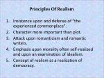 principles of realism