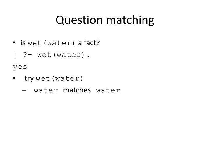Question matching