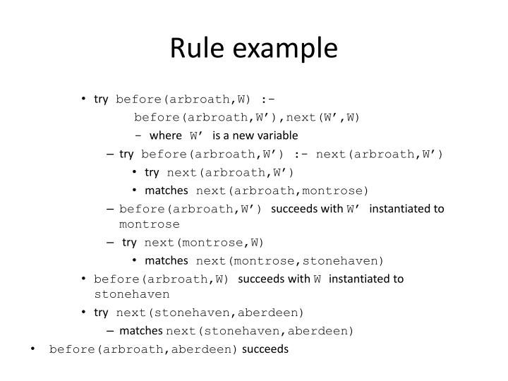 Rule example