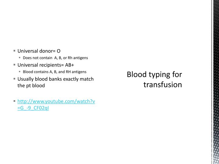 Universal donor=
