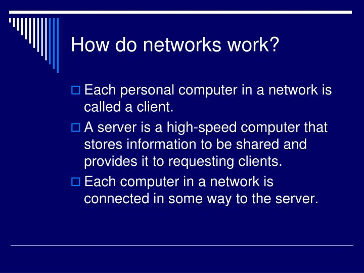 How do networks work?