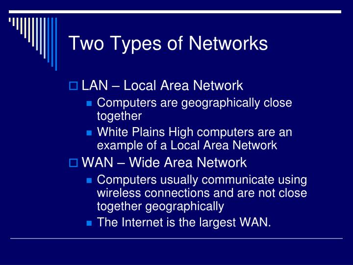 Two types of networks