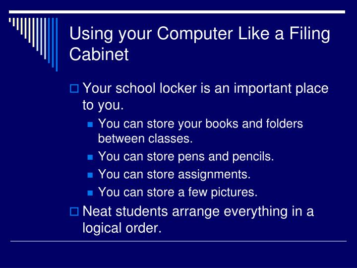 Using your Computer Like a Filing Cabinet