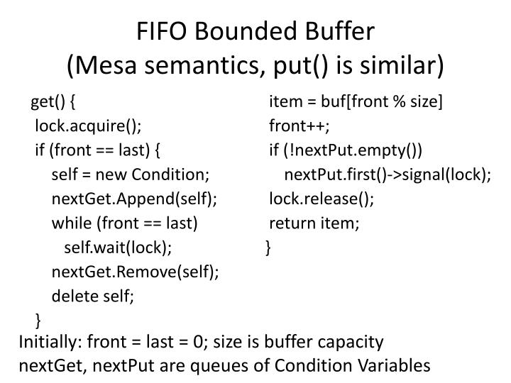 FIFO Bounded Buffer