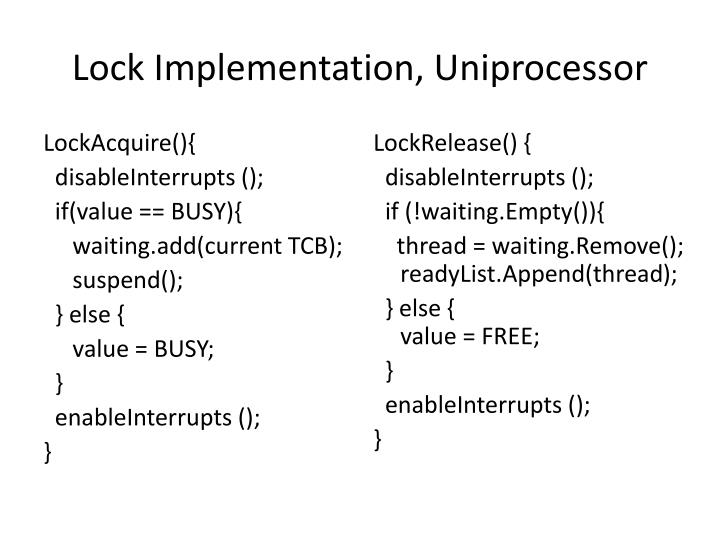 Lock Implementation,